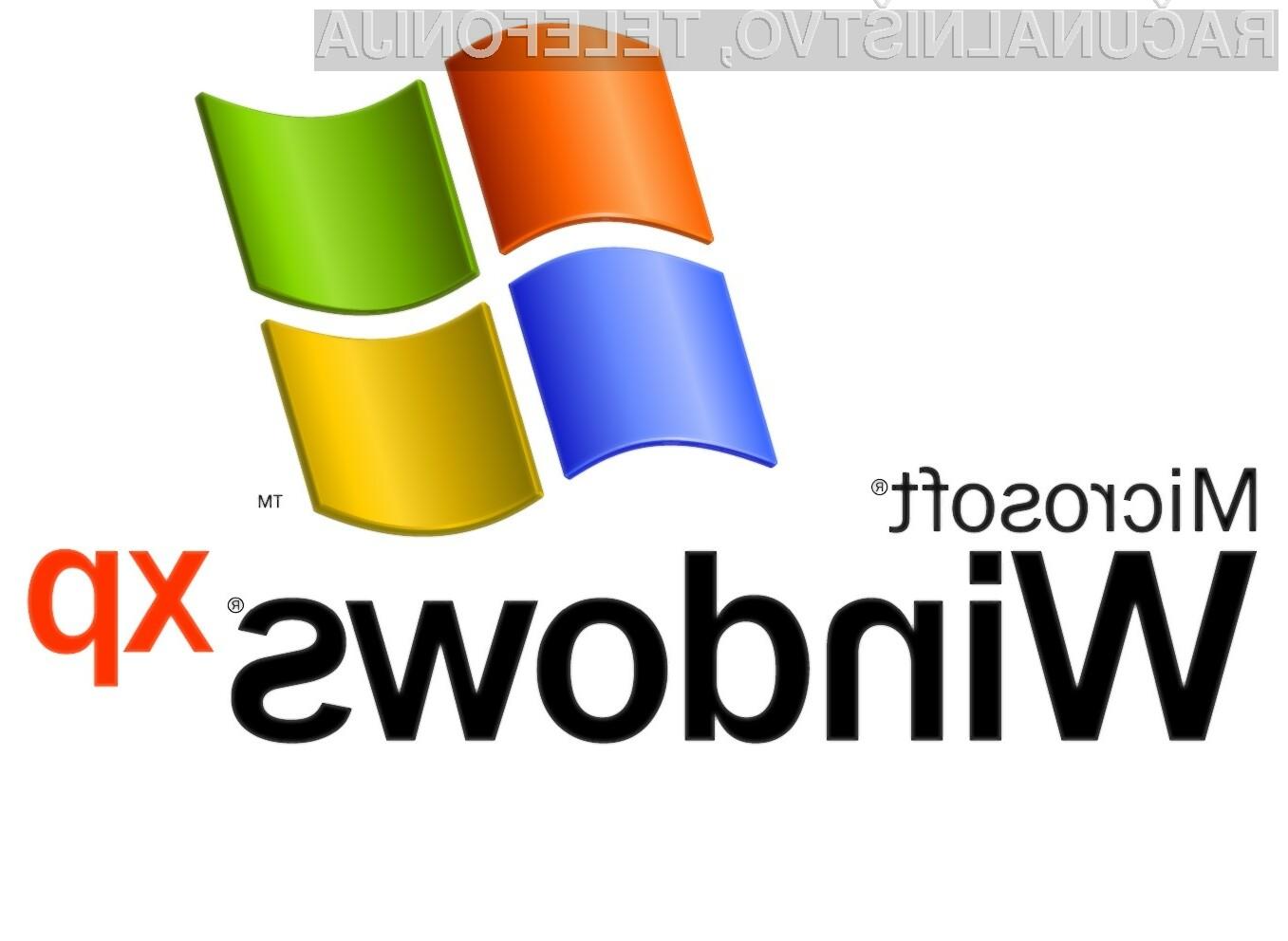 Operacijski sistem Windows XP že dalj časa ni več primeren za zanesljivo in varno delo.