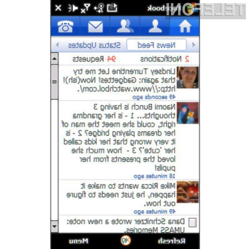 Priljubljena socialna mreža Facebook je postala mobilna!