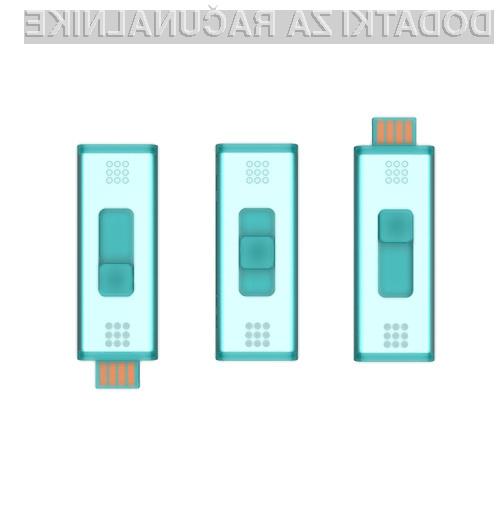 Dva miniaturna pomnilniška ključa USB v enem!