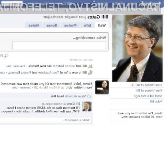 Socialne mreže niso pisane na kožo Billu Gatesu!