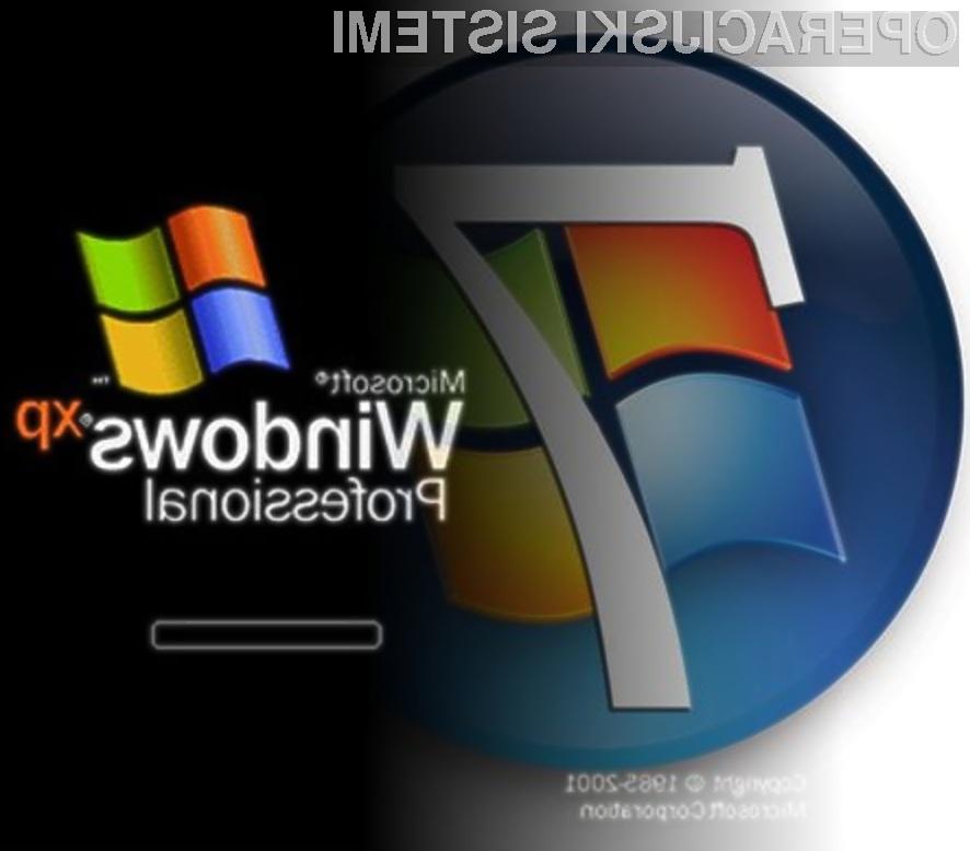 Windows 7 je bogatejši za preobleko Oken XP.
