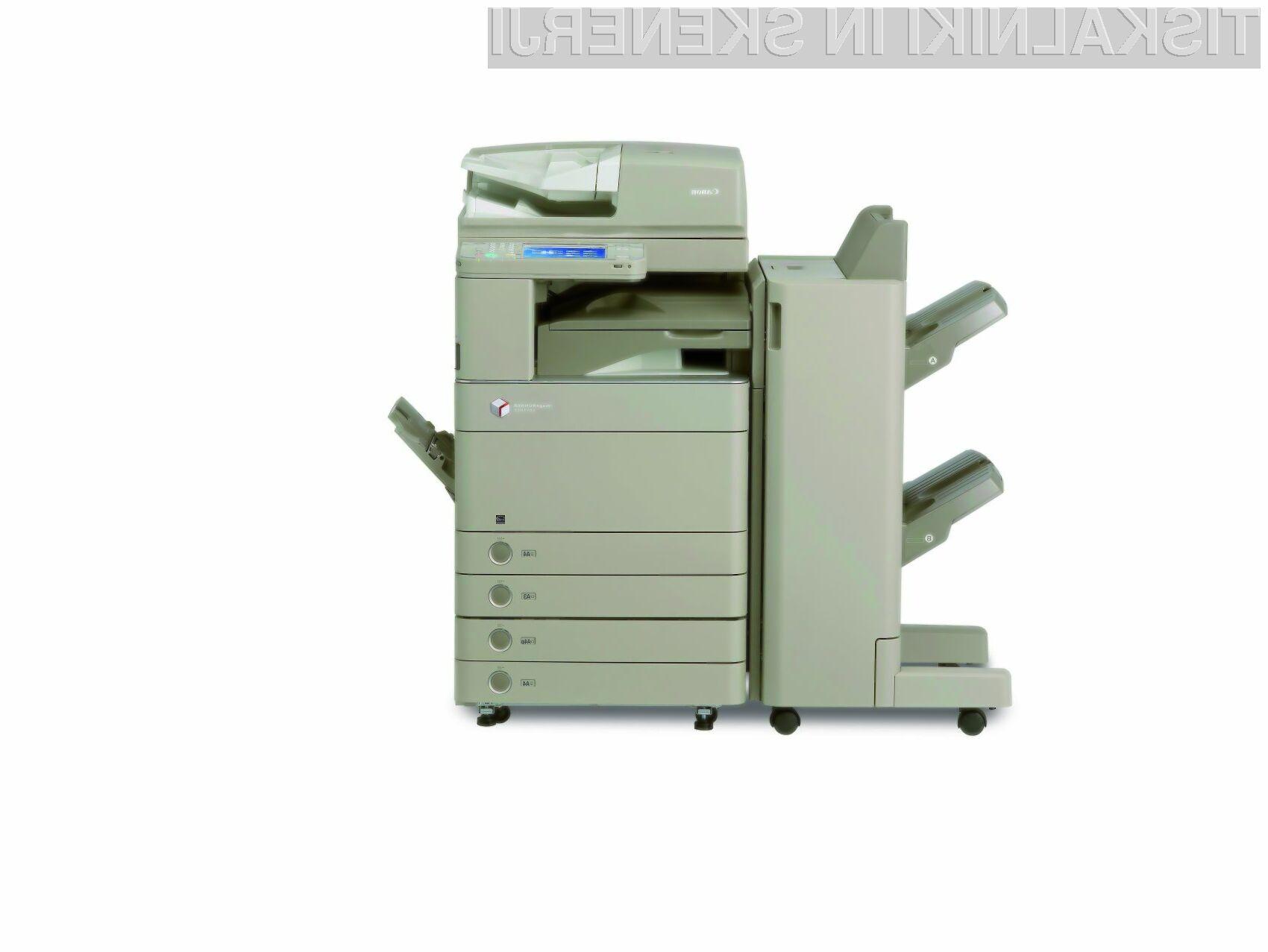 Nove naprave imageRUNNER ADVANCE bodo izkoristile Adobovo tehnologijo za napredno tiskanje, skeniranje in varovanje dokumentov.