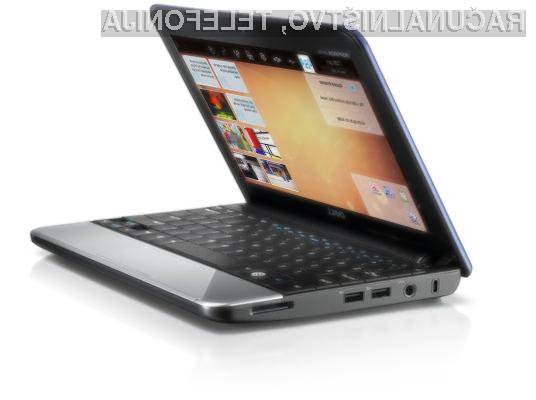 Dell Inspiron Mini 10v s prednameščeno različico operacijskega sistema Ubuntu Moblin Remix Developer Edition.