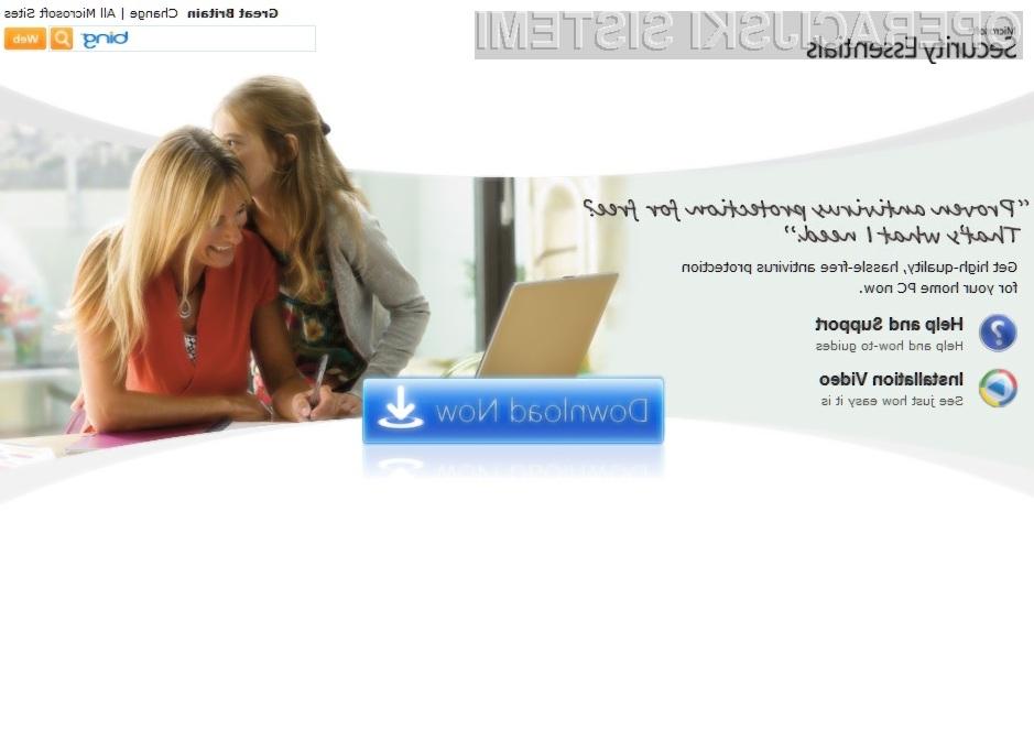 Brezplačni protivirusnik Microsoft Security Essentials je bil že deležen številnih pozitivnih kritik!