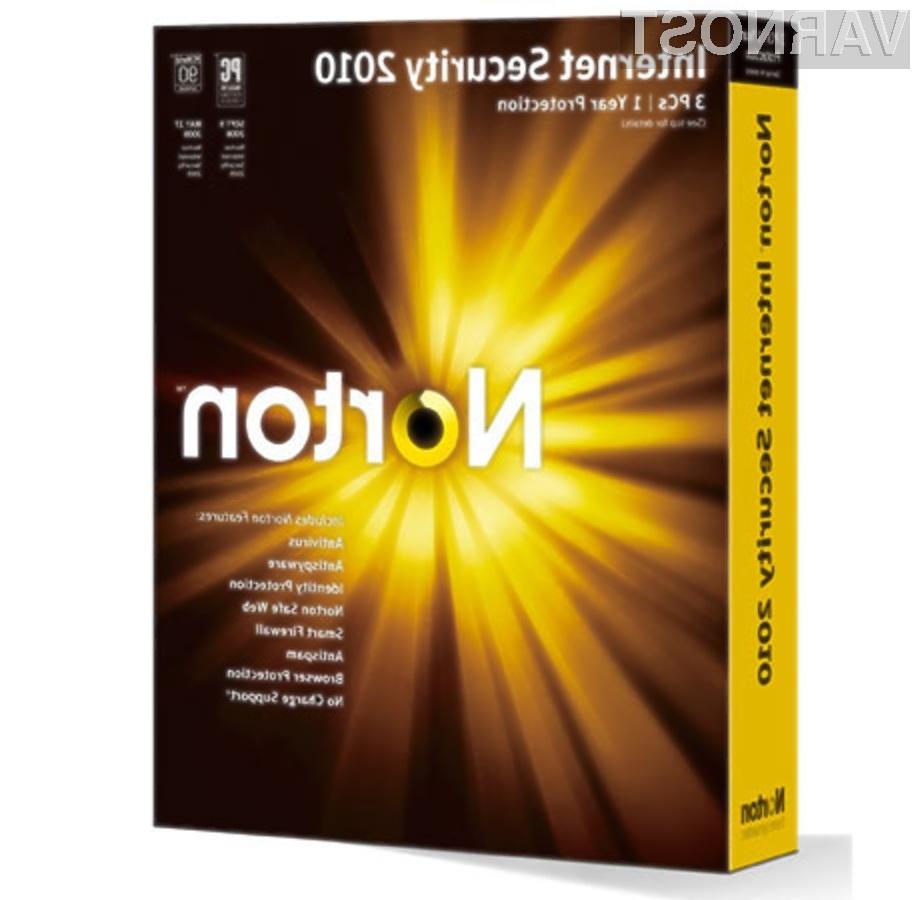 Polni zaščitni paket Symantec Norton Internet Security 2010 bo odlično poskrbel za našo varnost!