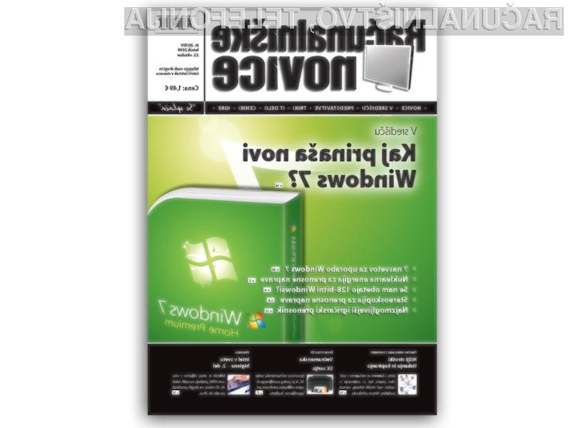 Windows 7 in Internet Explorer 8 v novi številki RN.
