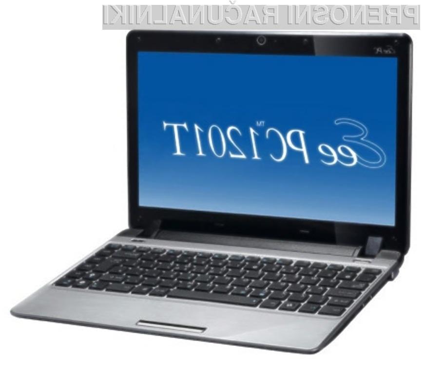 Žepni računalnik Asus Eee PC 1201T je povsem kos tudi zahtevnejšim nalogam!