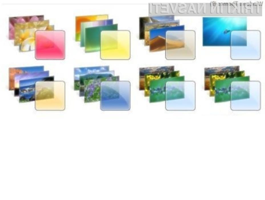 Le za kaj je Microsoft skril dodatne teme za Okna 7?