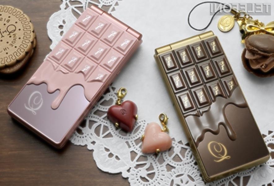 Mobilni telefon NTT DoCoMo Melty Chocolate je edinstven v vseh ogledih.