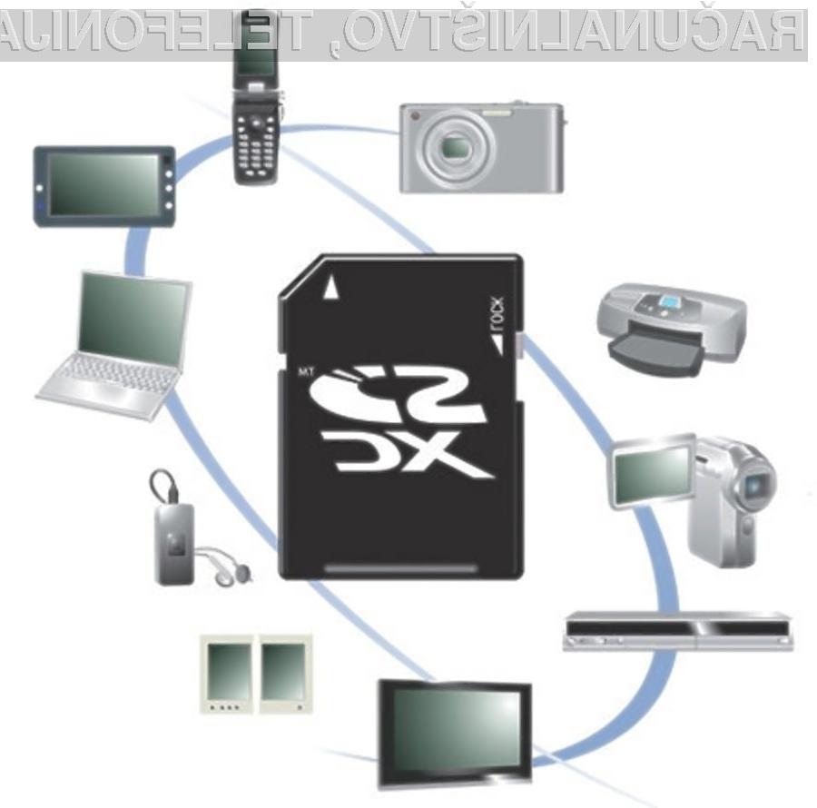 Nove pomnilniške kartice SDHC in SDXC obetajo prenose podatkov s hitrostjo do 300 MB/s.