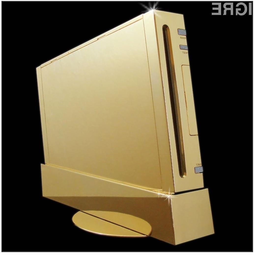 Ali verjamete, da se bo našel kupec za zlato igralno konzolo Nintendo Wii Supreme?