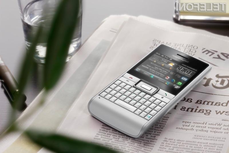 Pisanje sporočil z novim Sony Ericssonom Aspen bo lahko opravilo.