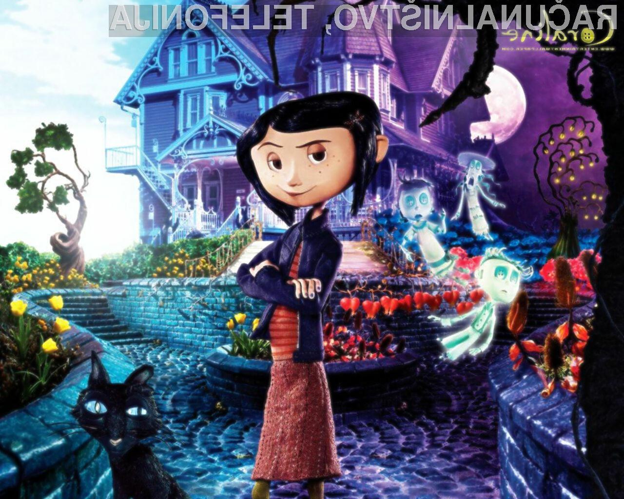 Tridimenzionalna filmska uspešnica Coraline 3D je prva, ki je klonila spretnim filmskim piratom.