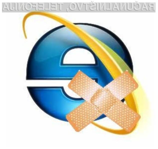 Ranljivost v spletnih brskalnikih Internet Explorer 6, 7 in 8 lahko odpravimo le z ročnim posegom.