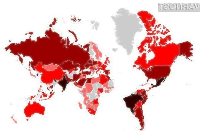 Maripolis okužbe po svetu