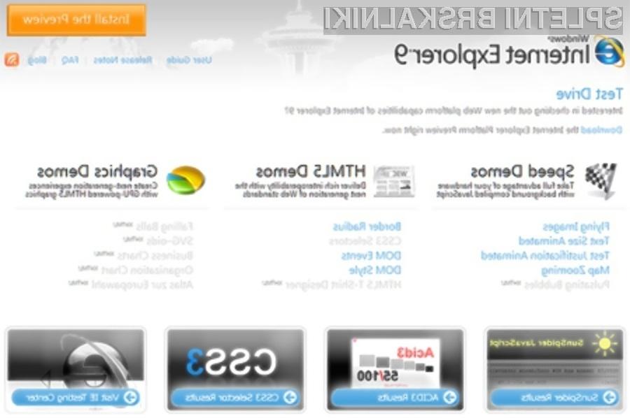 Spletni brskalnik Internet Explorer 9 je pisan na kožo platformi Nvidia Ion 2!
