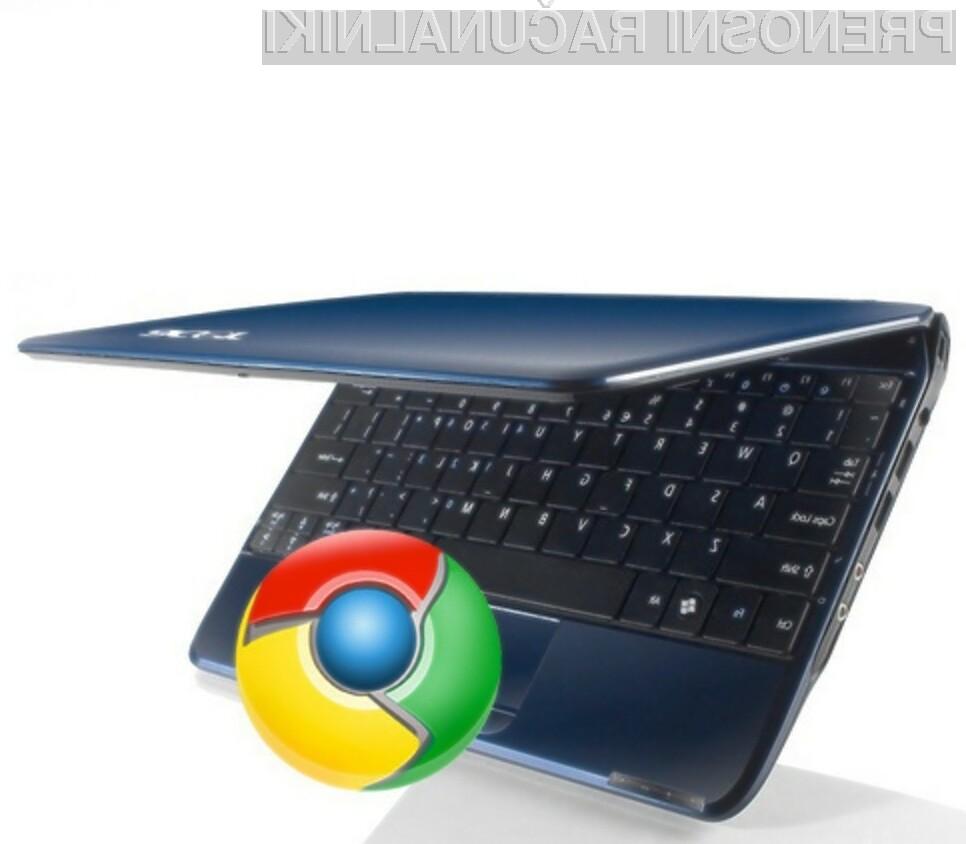 Operacijski sistem Google Chrome OS naj bi občutno pocenil žepne računalnike.