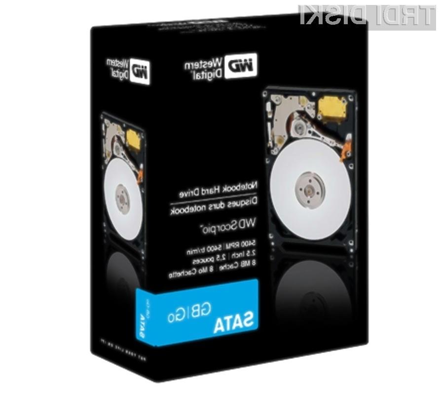 Western Digital Scorpio Blue 750 GB - prostora za shranjevanje podatkov bi moralo biti več kot dovolj!