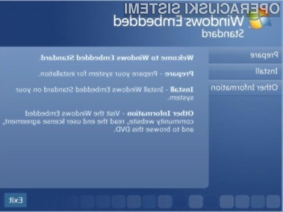 Operacijski sistem Windows Embedded 7 se odlično prilega tudi tabličnim računalnikom.