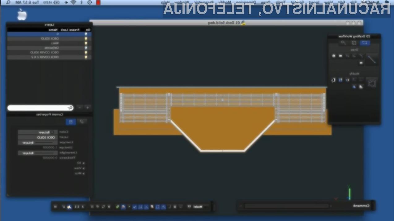 Programski paket AutoCAD bo kmalu na voljo tudi za uporabnike Applovih računalniških sistemov Mac.