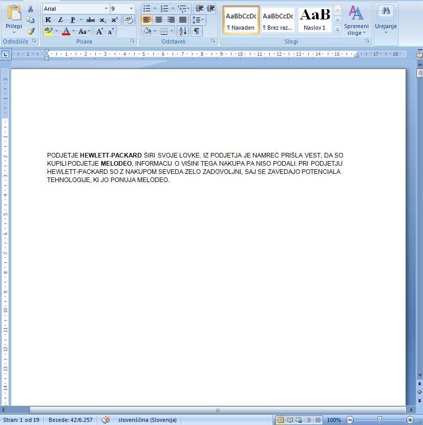 Pretipkavanje v Wordu 2007 marsikdaj ni potrebno.