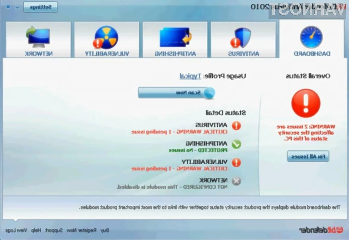 Brezplačni protivirusnik BitDefender Free Antivirus 2010 se odlično znajde v vseh razmerah!