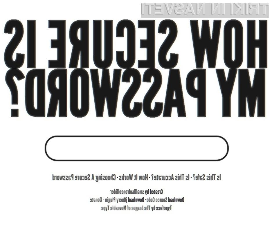 Kako varno je vaš geslo?
