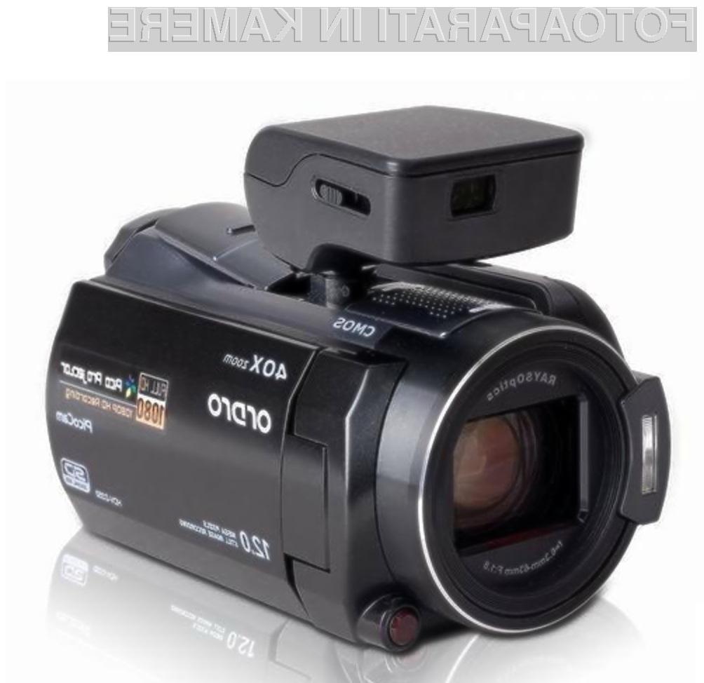 Projiciranje filmskih posnetkov je odslej mogoče celo z digitalnim kamkorderjem.