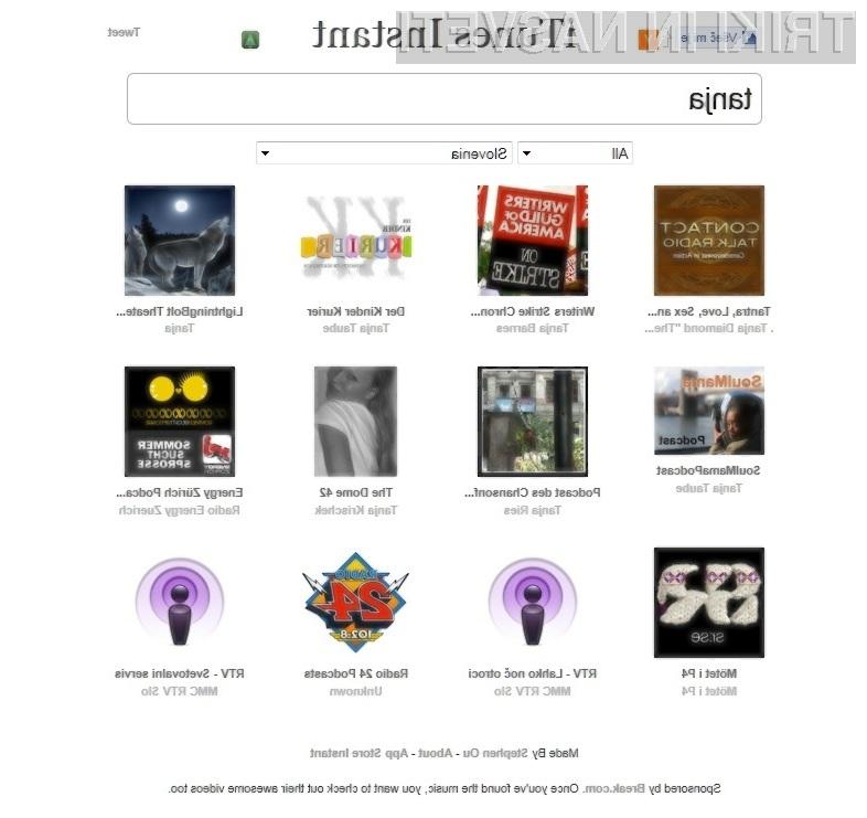 iTunes Instant: hitro in enostavno do želenih vsebin na spletni prodajalni iTunes Store.