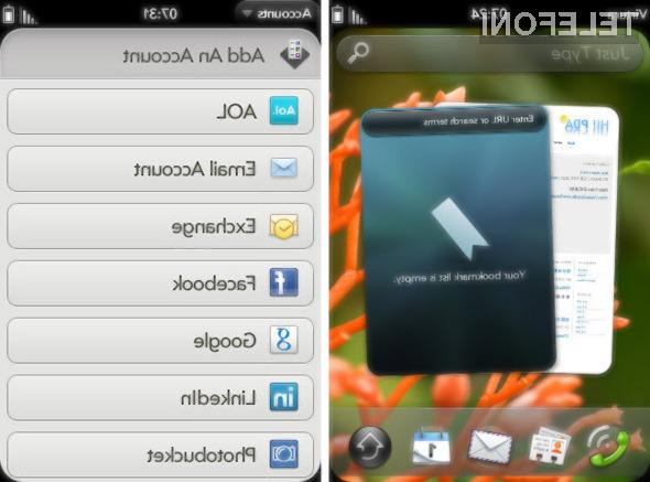 Grafični vmesnik mobilnega operacijskega sistema webOS 2.0 navdušuje!
