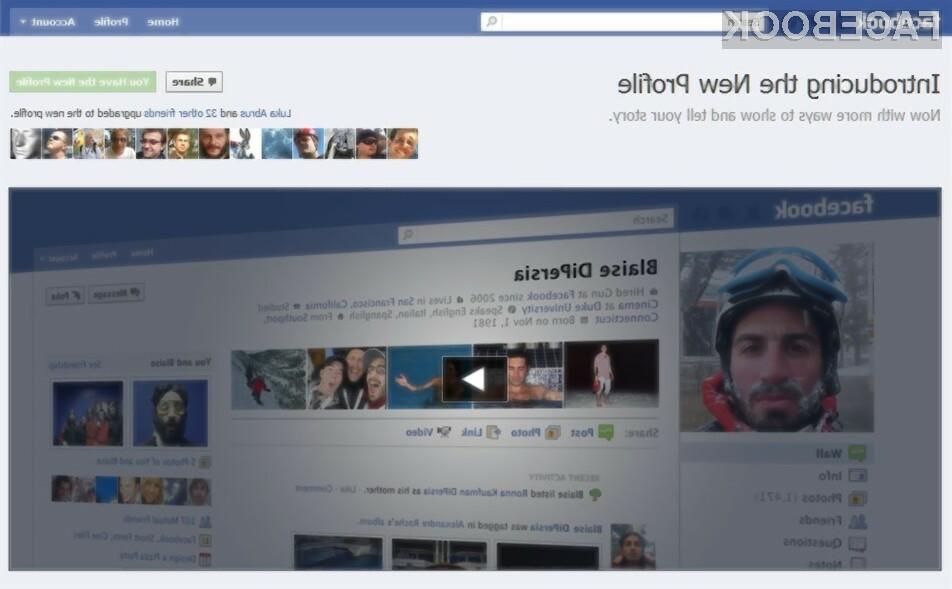 Facebook je čez noč preoblikoval uporabniške profile in jih kot pravijo naredil nekoliko preglednejše.