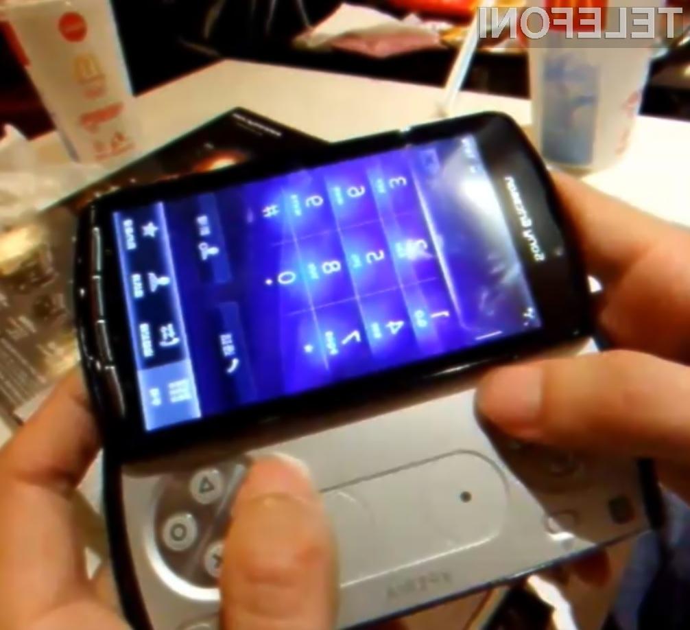 Igričarski pametni mobilni telefon Sony Ericsson Xperia Play obeta veliko!