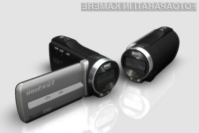 S pomočjo ViewSonicovih kamkorderjev lahko pridemo do 3D videoposnetkov relativno poceni.