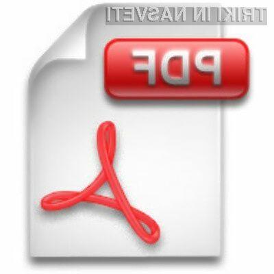 Format PDF uporabljamo predvsem takrat, ko od prejemnika ne pričakujemo, da bo dokument urejal.