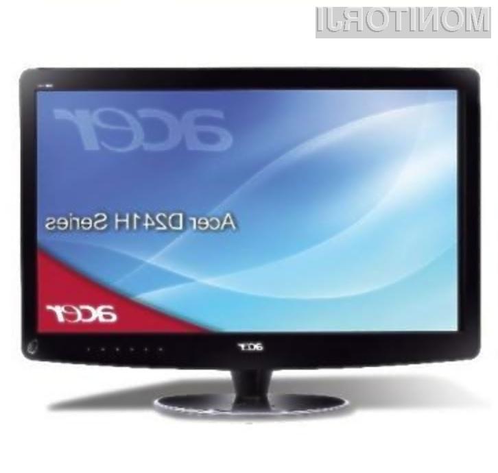 Računalniški zaslon Acer DX241H je pisan na kožo ljubiteljem večpredstavnostnih vsebin!