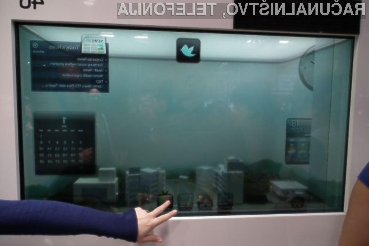 Prozorni zaslon LCD podjetja Samsung je izjemno prijeten na pogled!