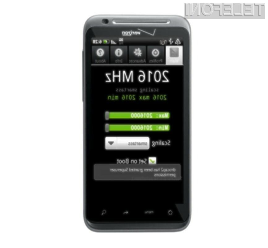 Zmogljivi procesor mobilnega telefona HTC Thunderbolt se navija kot za stavo!