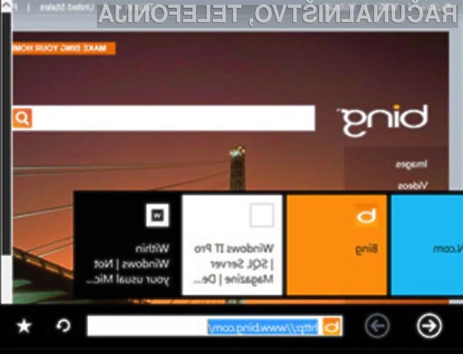 Grafični vmesnik Oken 8 močno spominja na mobilni operacijski sistem Windows Phone 7.