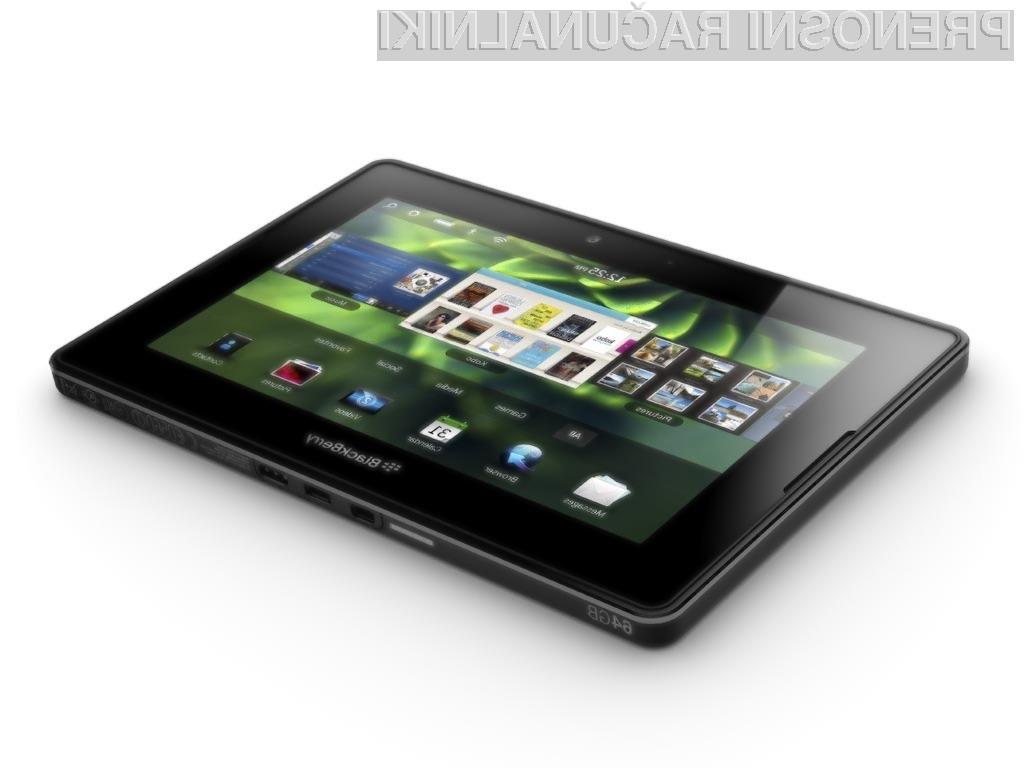 BlackBerry PlayBook se po prodaji ne more kosati z iPadom.