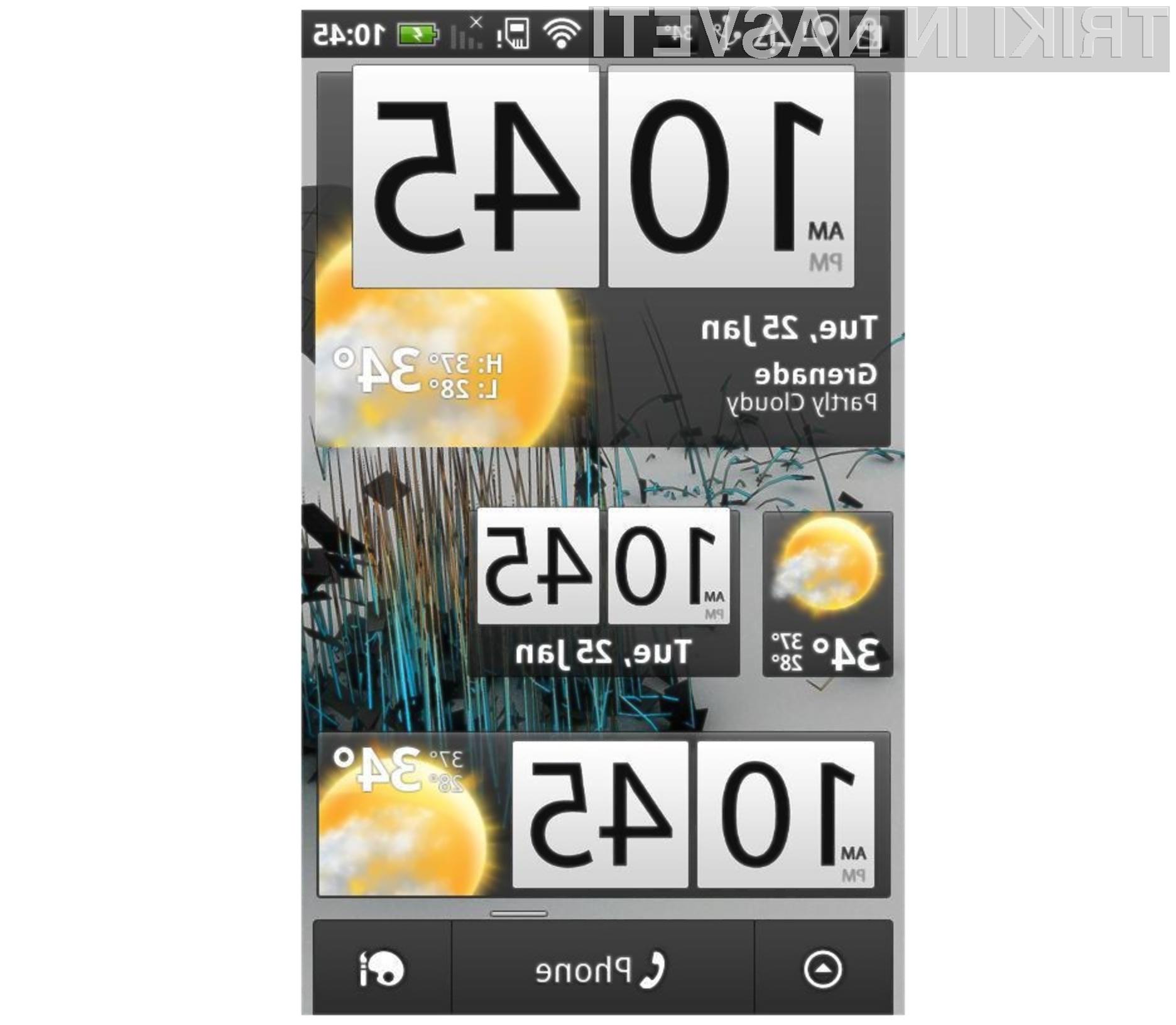 Programska oprema Beautiful Widgets Lite se odlično prilega mobilnikom Android.