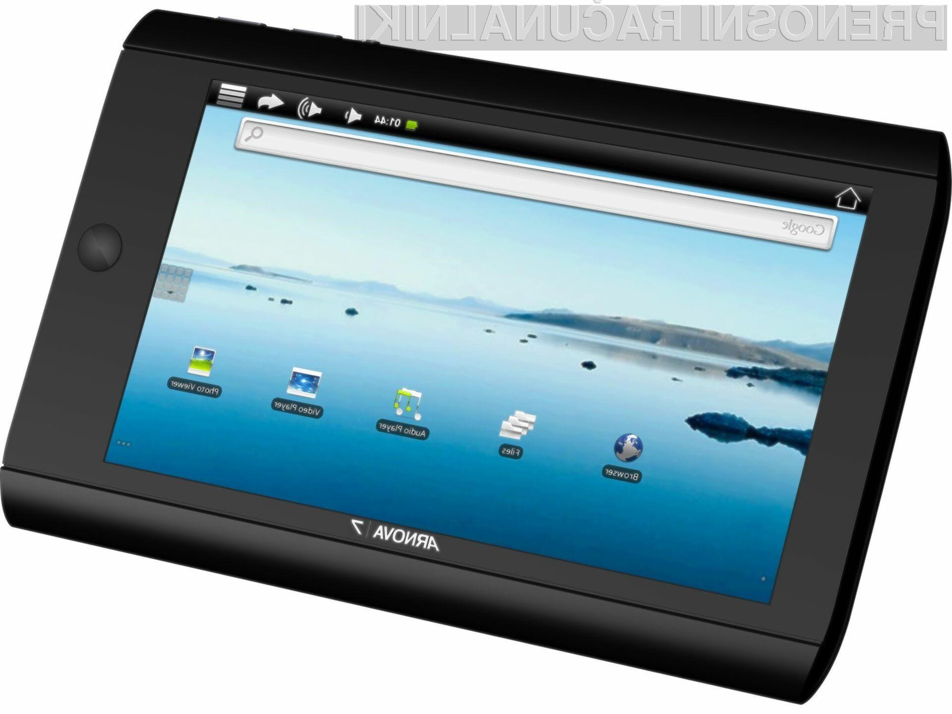 Arnova 7 verjetno ni tako hitra kot nekateri novi tablični računalniki, bo pa kljub temu prišla zelo prav bodočim kupcem.