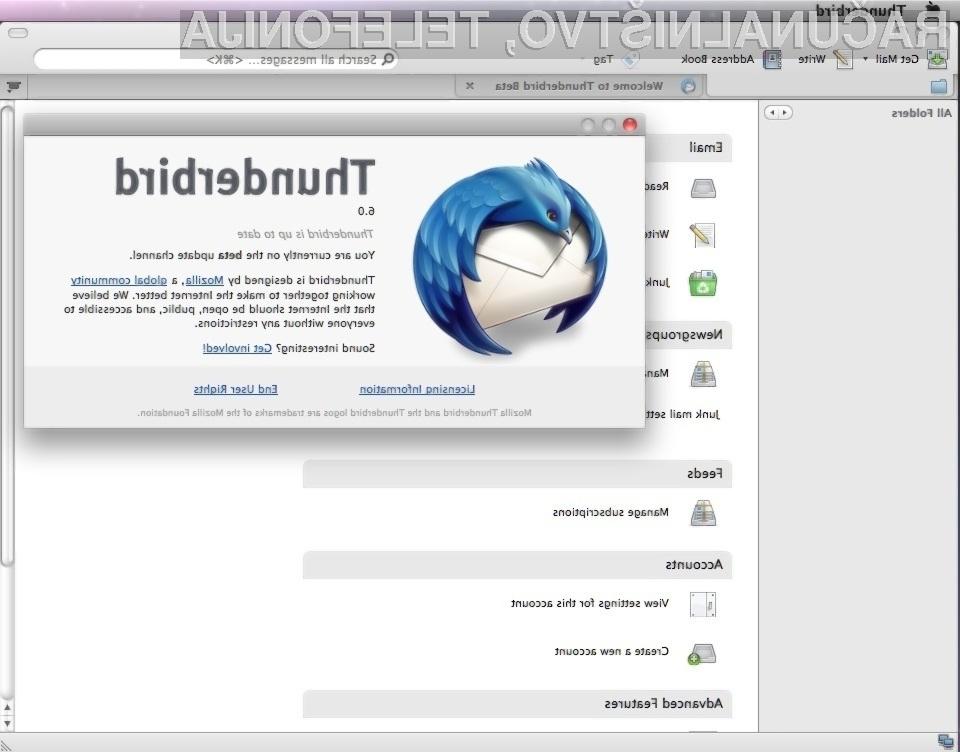 Prenovljeni Thunderbird prinaša zvrhan koš novih in uporabnih funkcionalnosti!