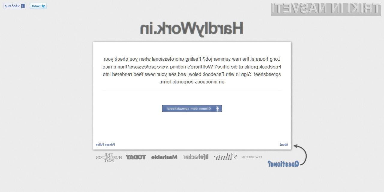 Spletna stran Hardlywork.in bo marsikateremu uporabniku olajšala življenje. Ali pač ne?