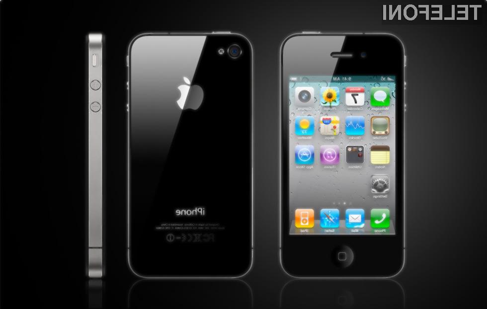Mobilnik iPhone 4 (na sliki) bo veliko lastnikov zamenjalo z novim iPhonom 5.