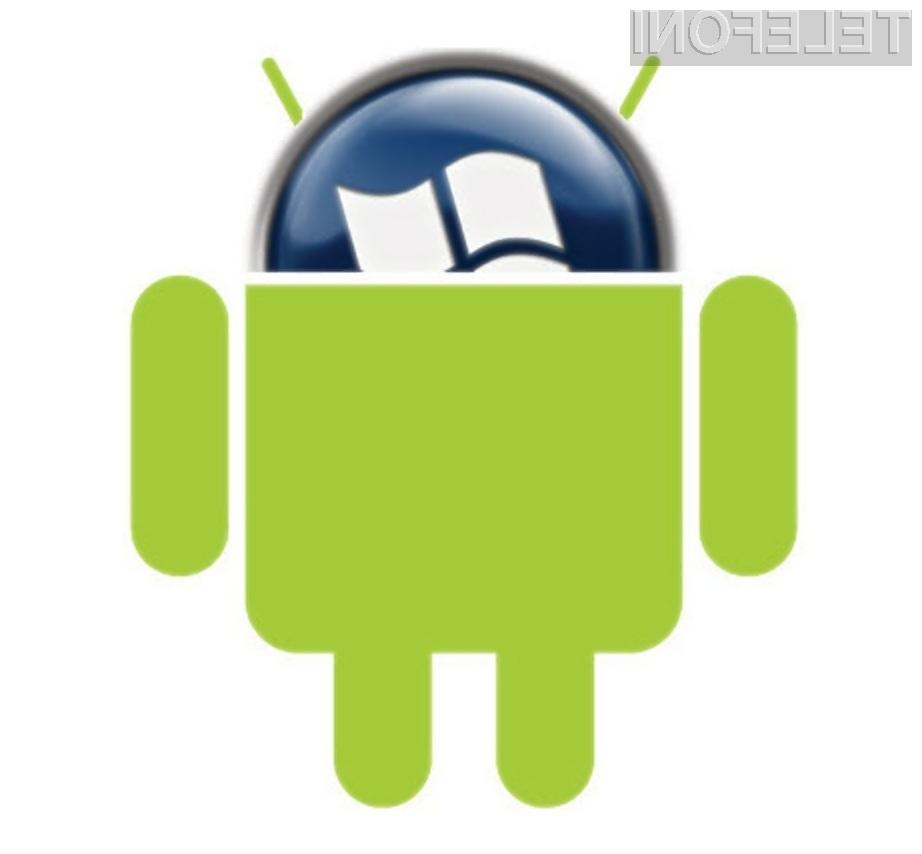 Več prodanih mobilnih naprav Android pomeni več zaslužka za Microsoft!