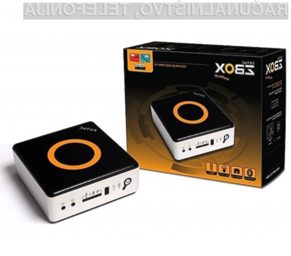 Mini računalnik ZBOX nano VD01 je več kot dovolj zmogljiv za vsakdanja opravila.