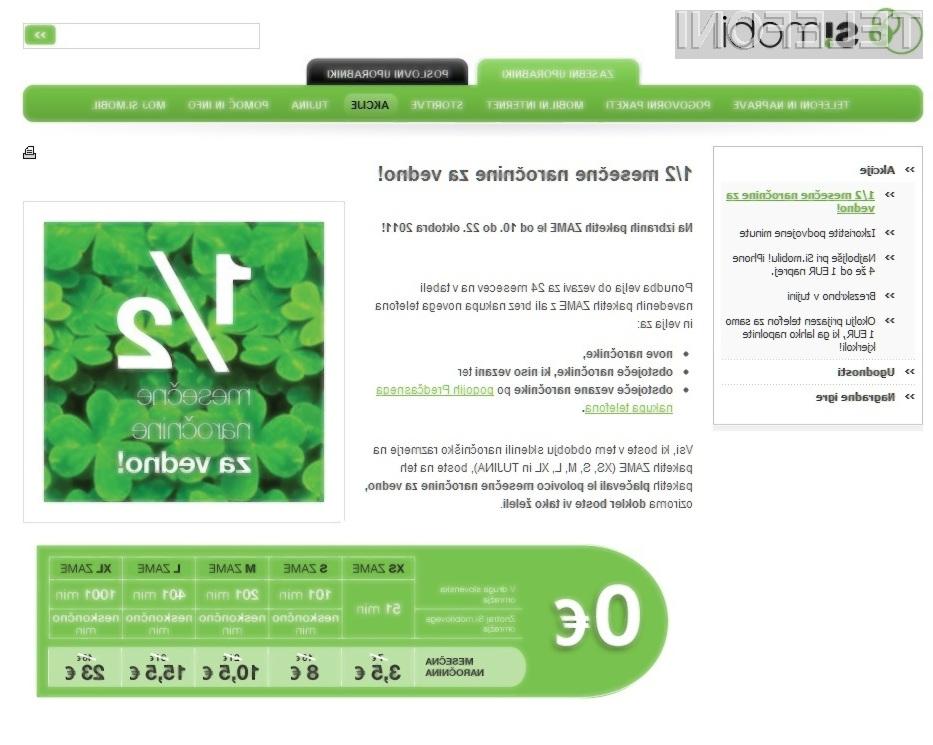Ali Si.mobil z besedo »za vedno« zavaja potrošnike?