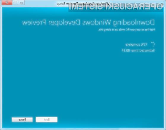 Namestitev operacijskega sistema Windows 8 bo hitra in enostavna!