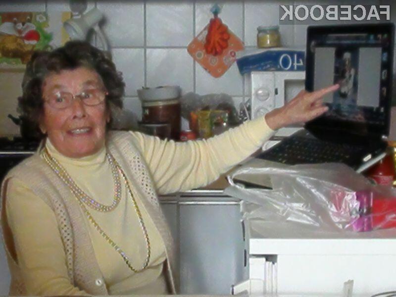 Gospa Nežika si ne more več predstavljati dneva brez računalnika.