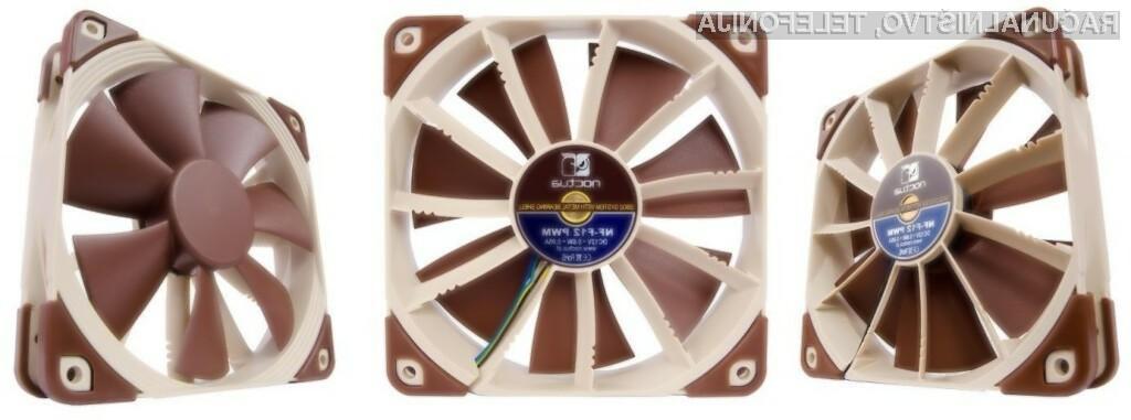 Visok pritisk novega hladilnika je zagotovljen z 11 dodatnimi rezili nameščenimi med rotor in okvir ventilatorja.